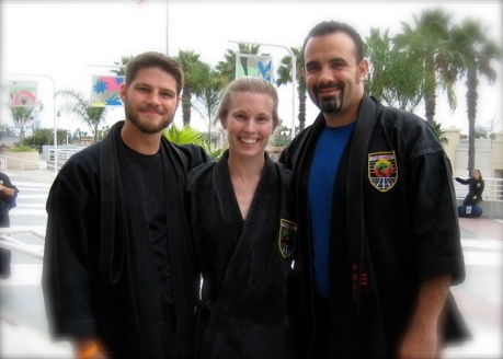 Me, my wife, and Sensei Alen