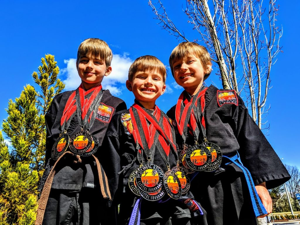 Potomac Kempo Tournament Victory Medals Winning Smiles